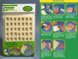 JsWorks Silicone Mold for 1/35 Rectangle Pavement Stones