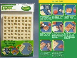 JsWorks Silicone Mold for 1/35 Square Pavement Stones