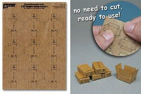 JsWorks 1/35 Combat Ration Small Boxes (9pcs) (Pre-cut Cardboard)