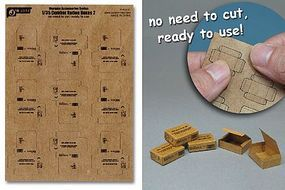 JsWorks 1/35 Combat Ration Medium Boxes (9pcs) (Pre-cut Cardboard)