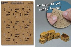 JsWorks 1/35 Combat Ration Large Boxes (9pcs) (Pre-cut Cardboard)