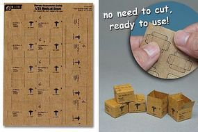 JsWorks 1/35 US Army Medical Boxes (7pcs) (Pre-cut Cardboard)