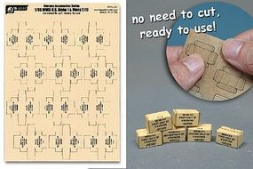 JsWorks 1/35 WWII US Military MRE Small Boxes (12pcs) (Pre-cut Cardboard)