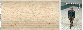 JsWorks 5.5''x 11'' (1/35 approx.) Light Tone Wood Plank Diorama Pattern (2) (Colored Paper)