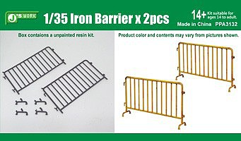 JsWorks 1/35 Iron-Type Barriers (2pcs) (Resin Kit)