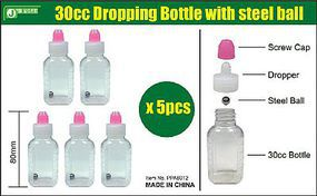 JsWorks 30cc Empty Dropper Bottle w/Steel Ball (5)