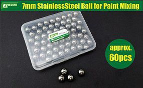 JsWorks 7mm Stainless Steel Balls for Paint Mixing (60)