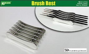 JsWorks Brush Rest Plastic Stand (Holds 5 Brushes)