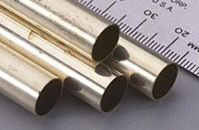 K-S 13/32x12 Round Brass Tube .014 Wall (4) (D)