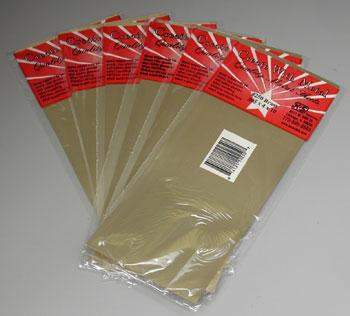 K & S (bulk of 6) Brass Sheet 4x10'' .005'' (6) -- Hobby and Craft Metal Sheet Metal Strip -- #250