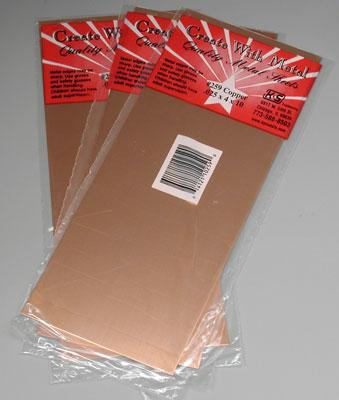 Bulk of 3 sheet copper 025 4 x 10 39 39 k s259 k s hobby for Metal sheets for crafting
