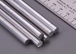 K & S Solid Aluminum Rod 1/4 (6)