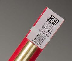 K-S 5/8x12 Round Brass Tube .014 Wall (1)