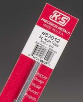 K-S 5/32x12 Square Aluminum Tube .014 Wall (1)