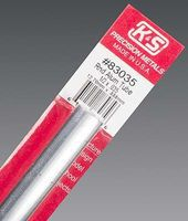 K-S Round Aluminum Tube 1/2X.035'' Hobby and Craft Metal Tubing #83035