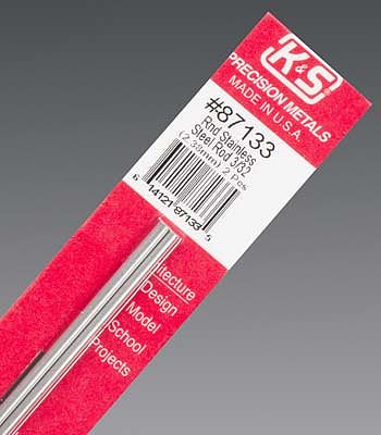 K-S 3/32x12 Round Stainless Steel Rod (2)