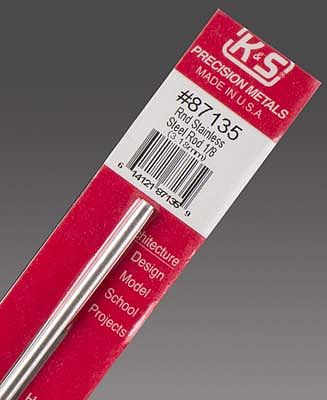 K & S 1/8''x12'' Round Stainless Steel Rod (1)
