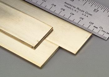 K-S Brass Strip .093x1x36 (1) Hobby and Craft Metal Sheet Metal Strip #9742