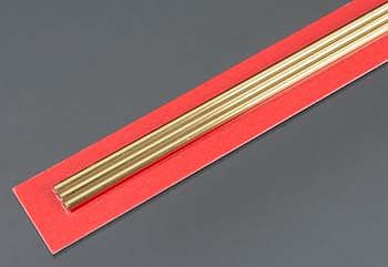 K-S 3.5mm x 300mm Round Brass Tube .225mm Wall (3)