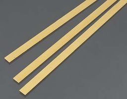 K-S .5mm x 6mm x 300mm Brass Strips (3)