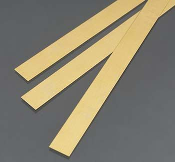 K-S .5mm x 12mm x 300mm Brass Strips (3)
