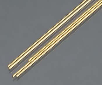 K & S 1mm x 300mm Solid Brass Rod (5)