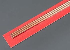 3mm x 300mm Round Copper Tube .36mm Wall (3)