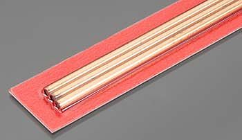 K-S 4mm x 300mm Round Copper Tube .36mm Wall (3)