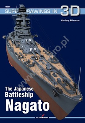 Kagero Books Super Drawings 3D- Japanese Battleship Nagato