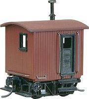 Logging Caboose Red Unlettered HO Scale Model Train Freight Car #104