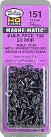 Kadee Self-Centering Knuckle Couplers #158 Medium 9/32'' Centers HO Scale Model Train Coupler #151