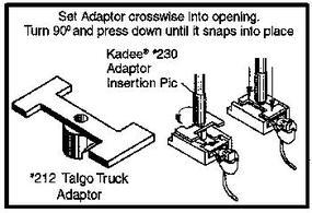 Kadee Coupler Conversion Kit - Talgo Truck Adaptor (24) HO Scale Model Train Coupler #212