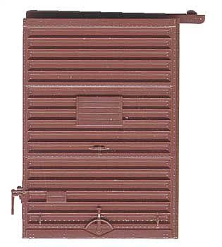 Kadee Quality Products 7' Youngstown Box Car Door with High Tack Board -- Red Oxide -- HO Scale -- #2234