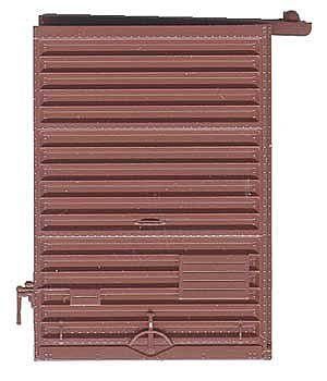 Kadee Quality Products 7' Youngstown Box Car Door with Low Tack Board -- Red Oxide -- HO Scale -- #2236