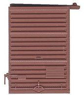 7' Youngstown Box Car Door with Low Tack Board Red Oxide HO Scale #2236