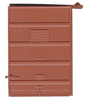 Kadee Quality Products 7' Five-Panel Box Car Door with High Tack Board -- Red Oxide -- HO Scale -- #2238