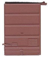 7' Five-Panel Box Car Door with Low Tack Board Red Oxide HO Scale #2240