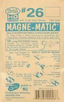 Kadee 20 Series Magne-Matic Long Centerset Shank 25/64 HO Scale Model Train Coupler #26