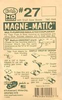 Kadee 20 Series Magne-Matic Med Underset Shank 9/32 HO Scale Model Train Coupler #27