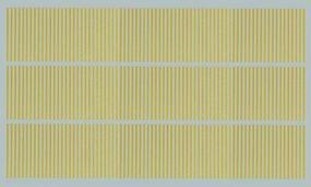 Kadee Street Decals - Dash - Yellow Lines HO Scale Model Railroad Decal #3123