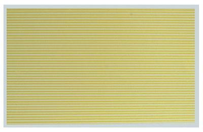 Kadee Street Decals - Solid/Solid - Yellow HO Scale Model Railroad Roadway Decal #3126