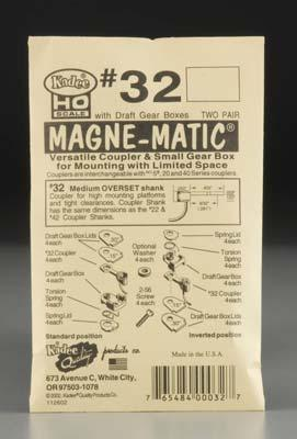 Kadee Quality Products 30 Series Magne-Matic Med Overset Shank 9/32 -- HO Scale Model Train Coupler -- #32