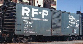 Kadee Pullman-Standard PS-1 40 Boxcar w/6 Door - Ready to Run Richmond, Fredericksburg & Potomac 2878 (blue, Billboard Lettering, Map Logo