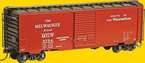Kadee Pullman-Standard PS-1 40 Boxcar w/6 Door - Ready to Run Milwaukee Road #8754 (Built 1955, Factory New, Red Oxide)