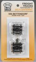 Kadee Self Center Truck Bettendorf 33 Smooth Wheels HO Scale Model Train Truck #550