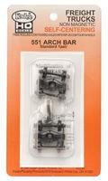 Kadee Self Center Truck Arch Bar 33 Rib Back Wheels HO Scale Model Train Truck #551