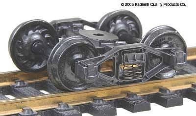Kadee Self-Centering Bettendorf T-Section 33 Rib Back Wheels HO Scale Model Train Truck #554