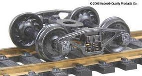Kadee Self-Centering Trucks - PRR 20-F8 50-Ton w/33 Ribbed Wheels HO Scale Model Train Truck #557