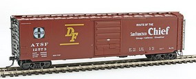 Kadee 50' PS-1 Boxcar w/8' Door Ready to Run ATSF #12573 (Built 1957, Factory New, Boxcar Red)