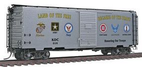 Kadee PS-1 40 Boxcar Honoring Our Troops Collectors HO Scale Model Train Freight Car #6916